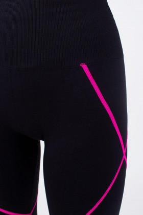 Спортивні безшовні легінси Giulia Leggings NEON STRIPE Pink
