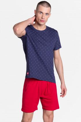 Мужской хлопковый комплект с шортами Henderson 38866 Life