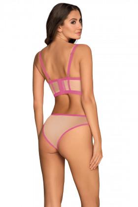 Комплект - топ з трусиками Obsessive Nudelia top Pink