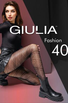 Колготки микросетка с принтом Giulia Fashion Net 40 model 4