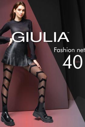 Колготки микросетка с принтом Giulia Fashion Net 40 model 7