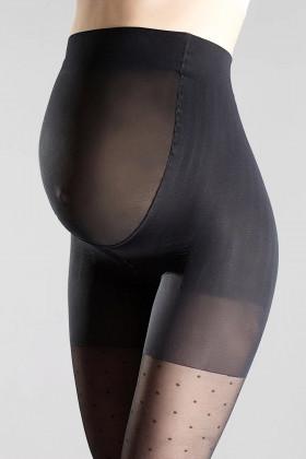 Колготки для беременных в горошек Giulia Mama Amalia 40 model 1