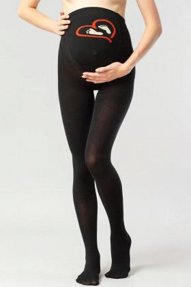Колготки для вагітних бавовняні з принтом Giulia Mama Cotton Fashion model 1