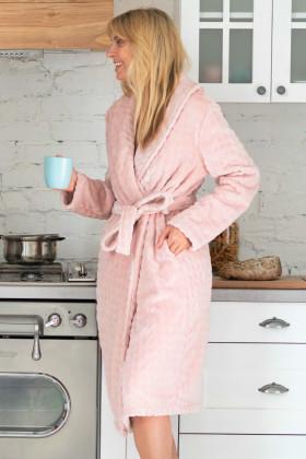 Теплий жіночий халат велсофта Naviale 100047 WAVES