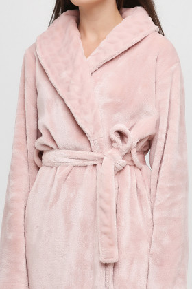 Теплий довгий жіночий халат з велсофта Naviale 100049 WAVES