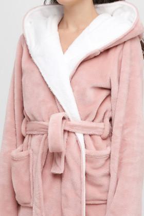 Теплий жіночий халат з капюшоном Naviale 100057 FOX