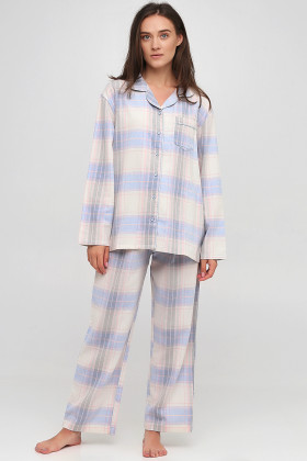 Пижама хлопковая в клетку Naviale LS.04.001 Dreams Blue