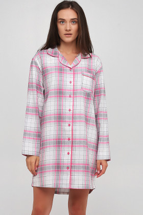 Платье-рубашка в клетку Naviale LS.06.001 DREAMS Pink Check