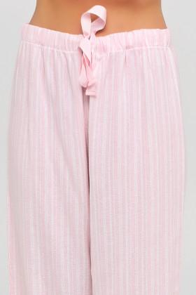Пижама хлопковая с брюками в полоску Naviale LS.07.001 Dreams Pink