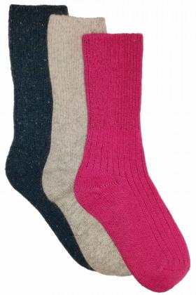 Набор теплых шерстяных носков в рубчик Lambswool 8011 (3pack)
