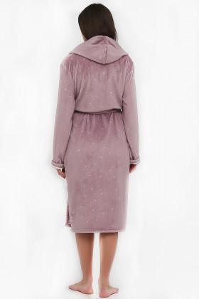 Теплий жіночий халат Naviale 100074 DOTS&STRIPES