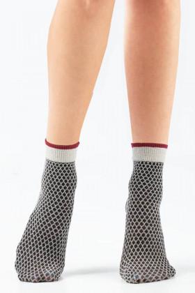 Носочки женские с люрексом LEGS L1831 CALZINO ROMBI LUREX