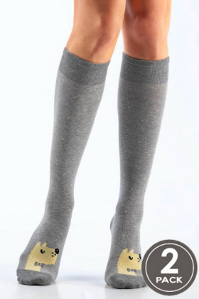Гольфы хлопковые с принтом Legs 106 KNEE HIGH 106 (2пары)