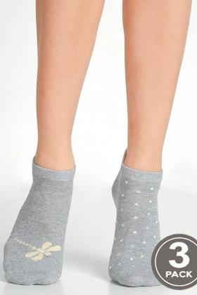 Носки хлопковые короткие LEGS 97 SOCKS LOW 97 (3 пары)