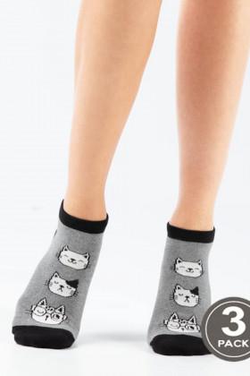 Носки женские с принтом LEGS 103 SOCKS LOW 103 (3 пары)